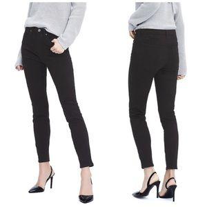 Banana Republic High Rise Skinny Jeans Black Denim